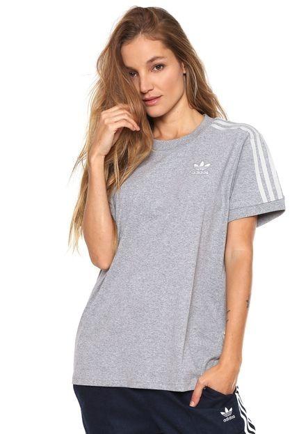 55adcac9c Camiseta Feminina adidas Originals 3 Stripes Original Cy4982 - R ...