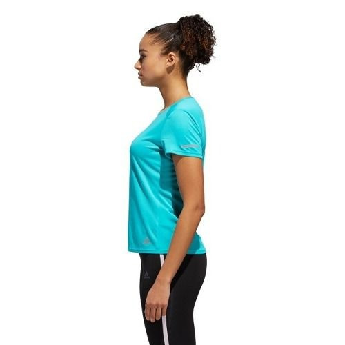 68c3d1fc0f8 Camiseta Feminina adidas Run W Hi-res Aqua Original Dn8657 - R  104 ...