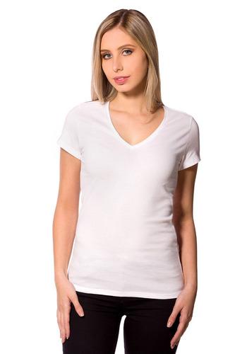 camiseta feminina baby look básica lisa algodão