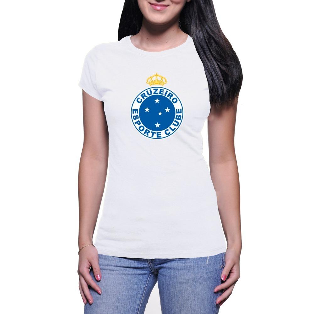 camiseta feminina baby look cruzeiro muito barata + brinde. Carregando zoom. dc768f8804f78