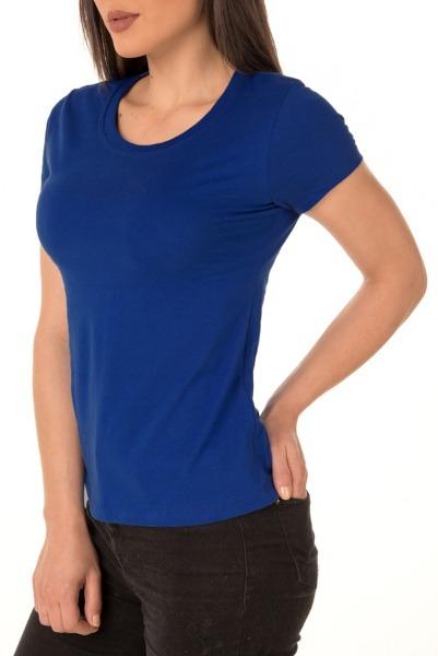 02b5c9d2d9 Camiseta Feminina Baby Look Lisa Azul P  Sublimação - R  21