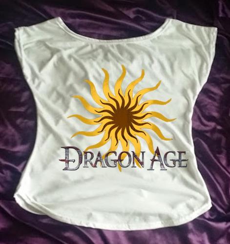 camiseta feminina babylook gola canoa dragon age q
