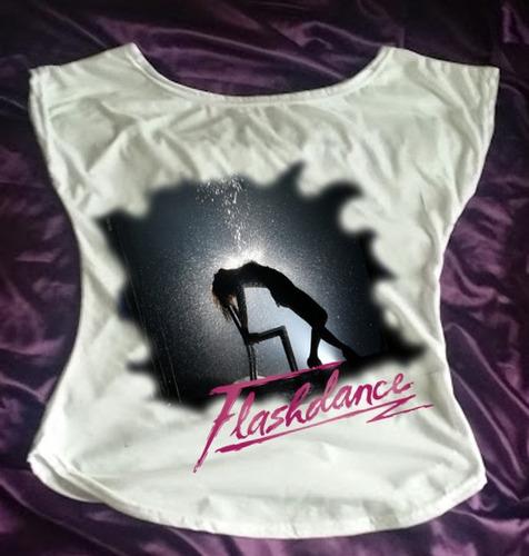 camiseta feminina babylook gola canoa flash dance 03