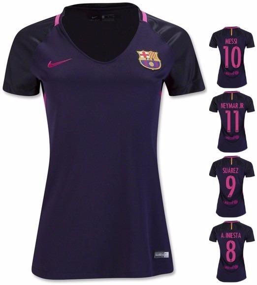 Camiseta Feminina Barcelona  Personalizada - R  75 6418b8e6795dd