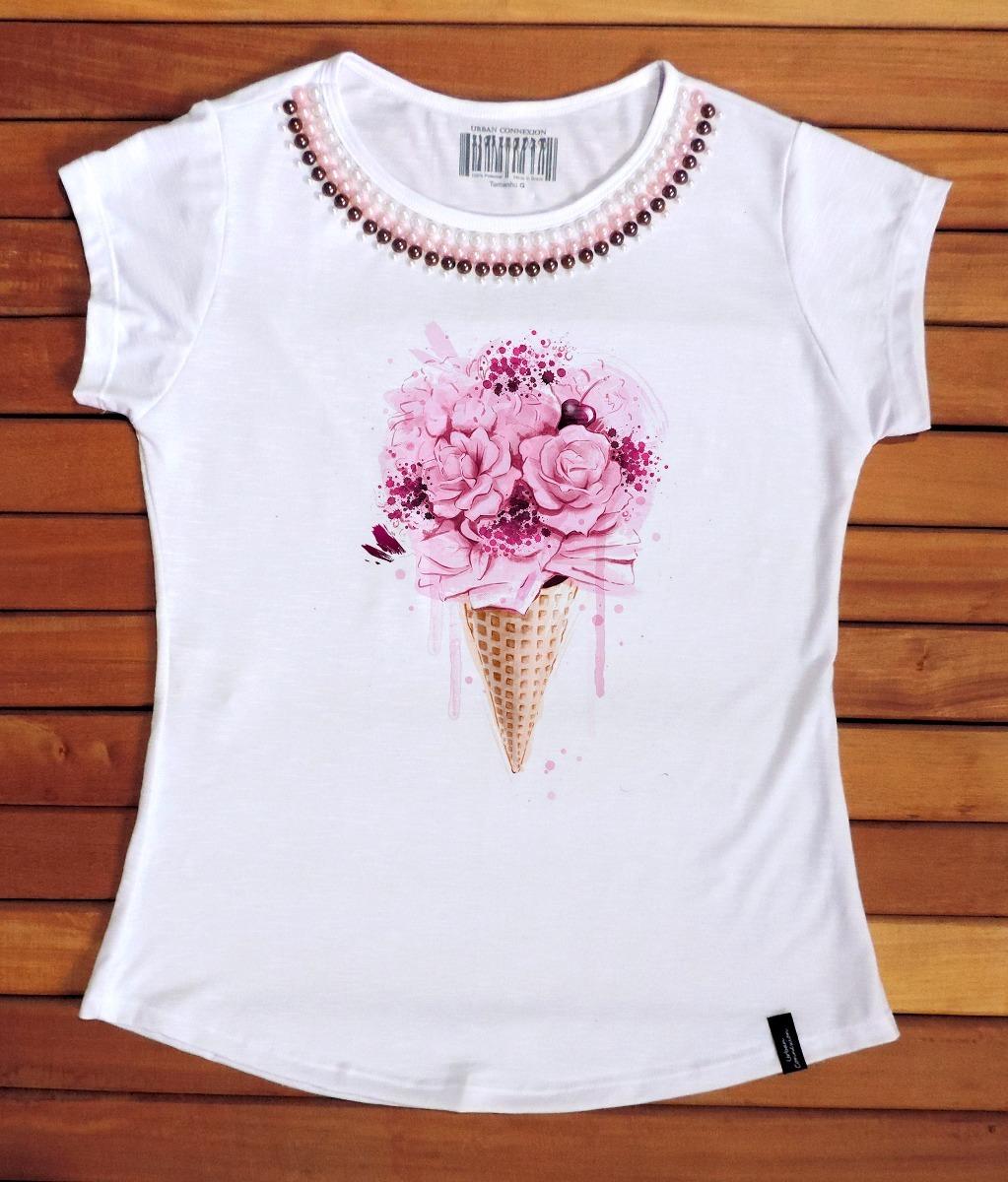 camiseta feminina blusa t shirt fashion ver o 2017 2018 r 55 10 em mercado livre. Black Bedroom Furniture Sets. Home Design Ideas
