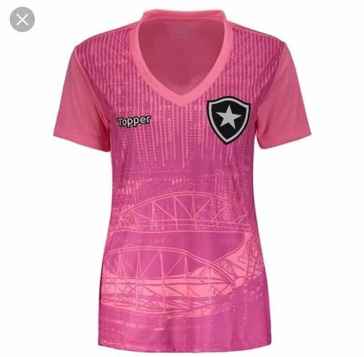 Camiseta Feminina Botafogo Rosa (personalizada) - R  75 d6e8cfbc0119a
