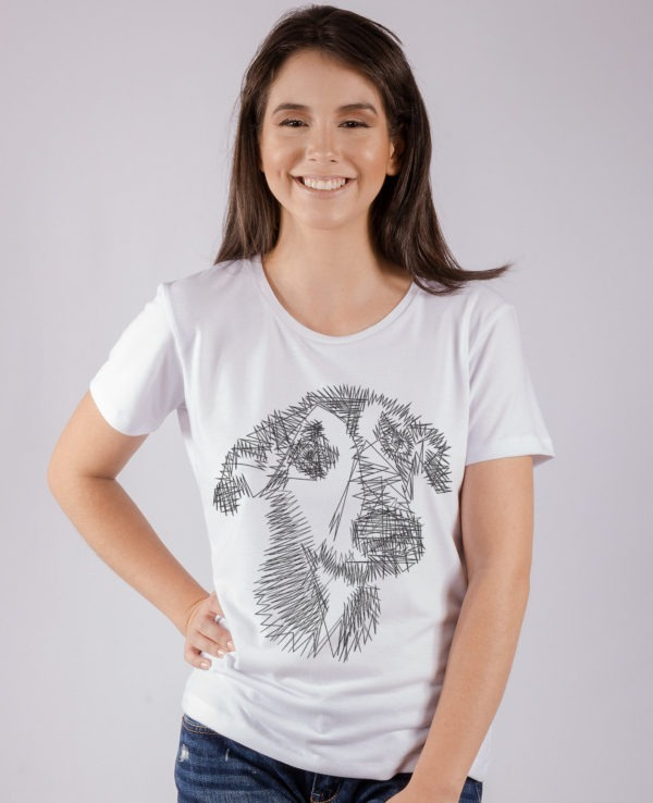 Camiseta Feminina Branca Animi Estampa Cachorro - R  48 c9f10619ce8