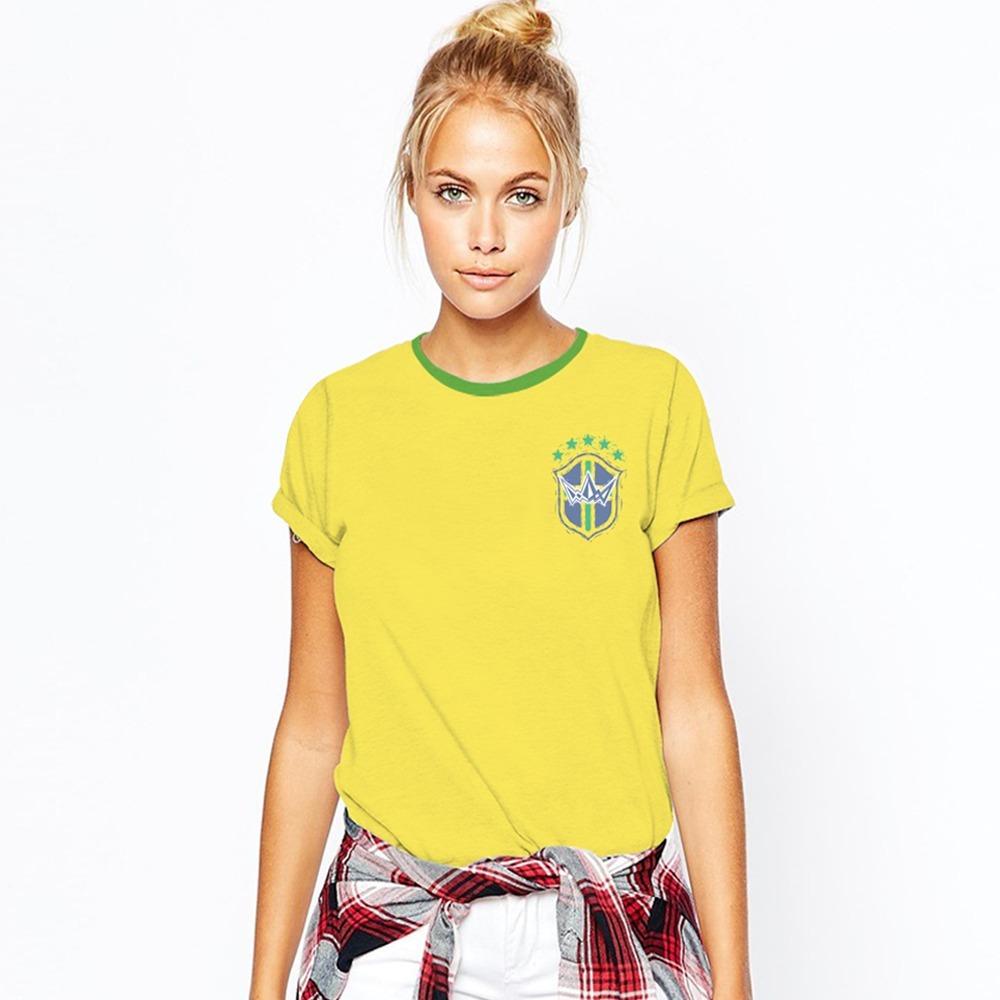 abcd4f66f camiseta feminina brasil seleção cordel de futebol copa 2018. Carregando  zoom.