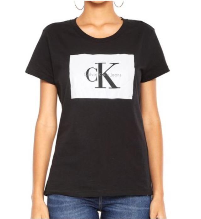89a6f70071 Camiseta Feminina Calvin Klein Jeans Original Preta - R  119