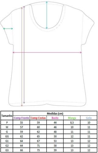 camiseta feminina campanha outubro rosa c4092