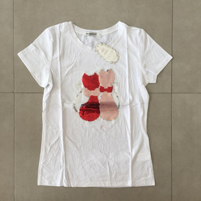 f071de2659 Camiseta Lantejoula - Camisetas e Blusas no Mercado Livre Brasil