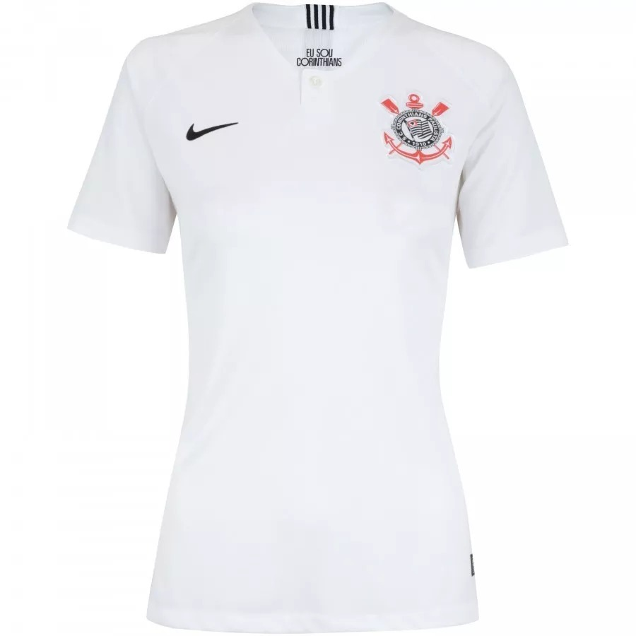 Camiseta Feminina Corinthans Lançamento 18 19 - R  134 34ba5e9b4aa98
