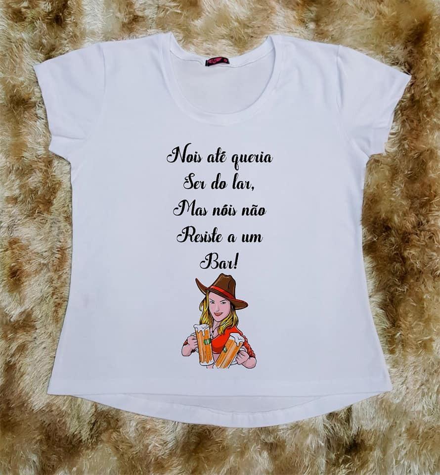 Camiseta Feminina Country Frase Country Bar Frete Grátis