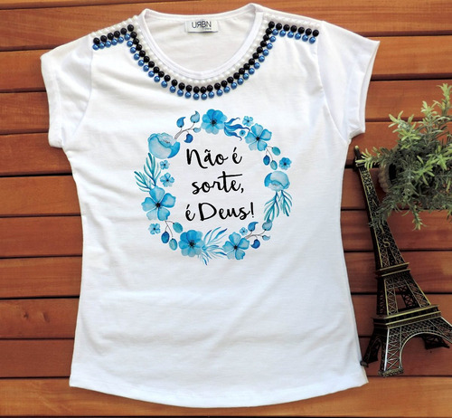 camiseta feminina cristã t-shirt gospel evangelica religiosa