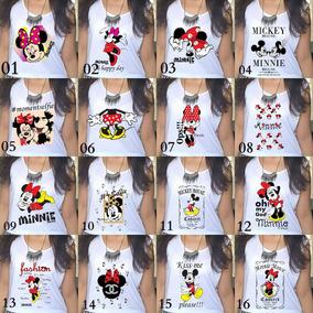 998c46818 Atacado 6 T-shirt Feminina Camisetas Blusa Estampada Mickey