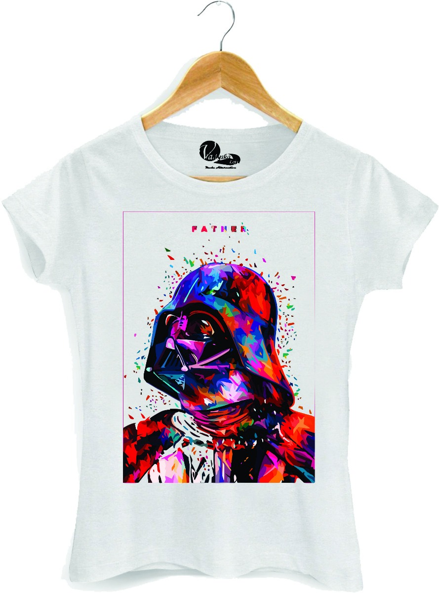 camiseta feminina darth vader aquarela star wars estampada. Carregando zoom. 6cace5fcc64