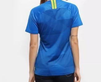 b51667e68e Camiseta Feminina Do Brasil Nike Oficial 2018 Azul Promoção - R  206 ...