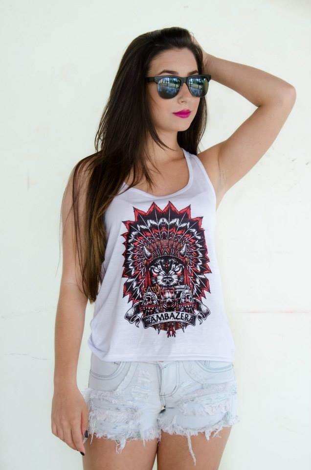 b19bc52659 camiseta feminina estampada regata. Carregando zoom.