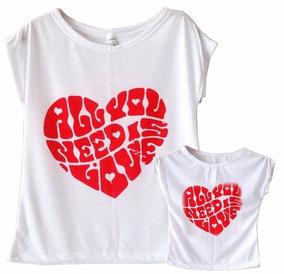 db32fe04ad Camiseta T Shirts Feminina Coração Vermelho Apaixonado - Camisetas no  Mercado Livre Brasil