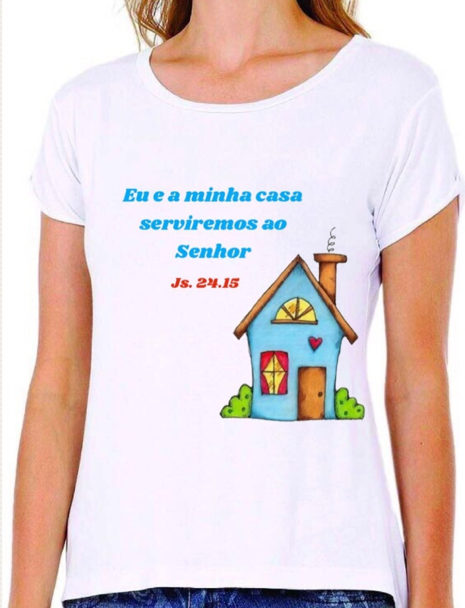 c7943ea42 Camiseta Feminina Frases Evangélicas