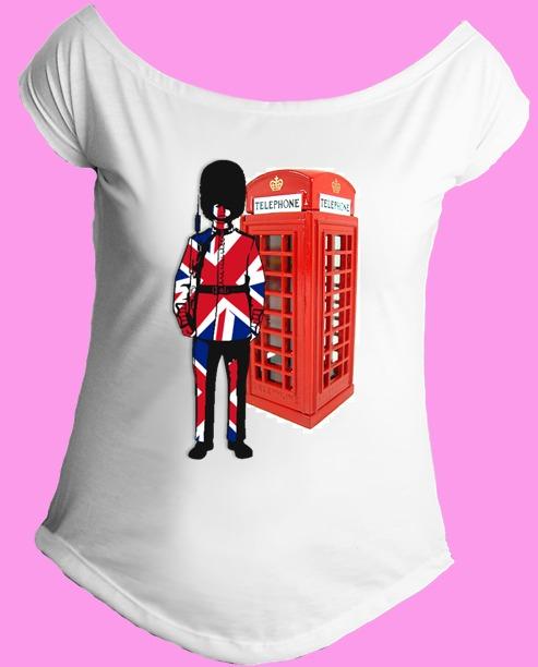 Camiseta Feminina G. Canoa Inglaterra Reino Unido Londres 07 - R  39 ... 9a9c9600c1c18