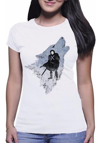 camiseta feminina ghost fantasma jon snow game of thrones