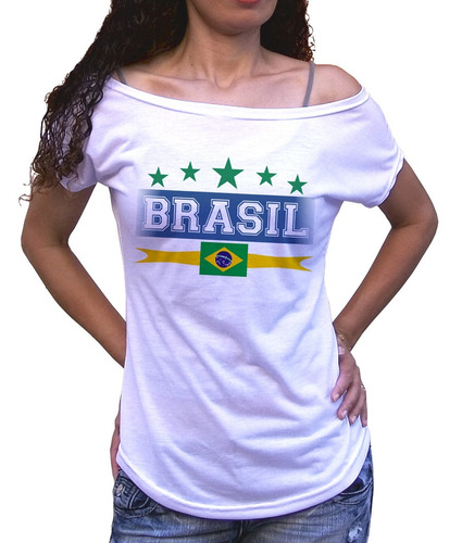 camiseta feminina gola brasil copa do mundo 2018