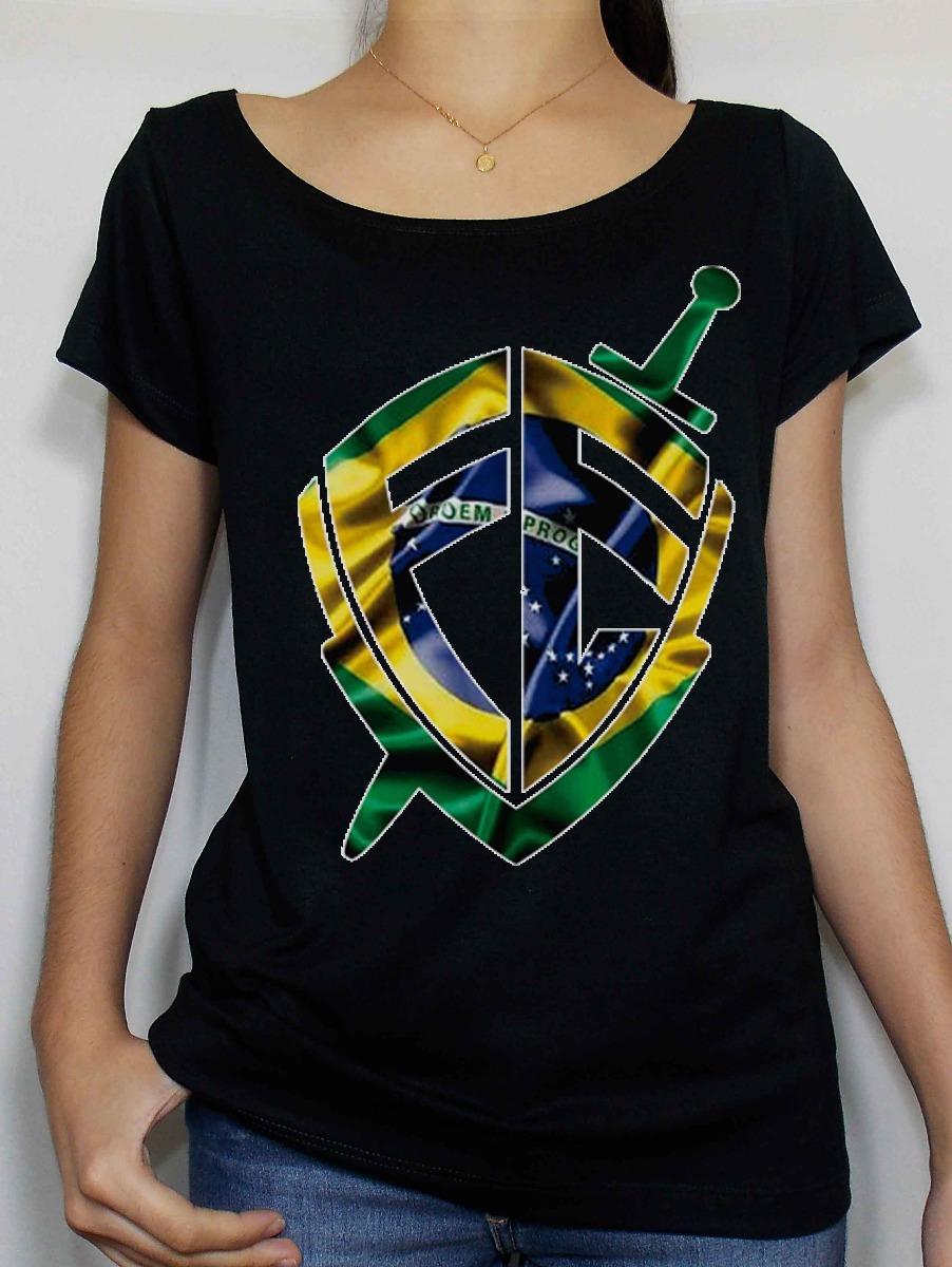 65529454c7 camiseta feminina gospel fé bandeira evangélica f. grátis dt. Carregando  zoom.