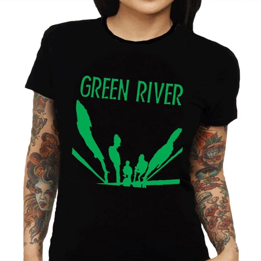 fc283aa8d Camiseta Feminina Green River - 100% Algodão - R$ 59,88 em Mercado Livre