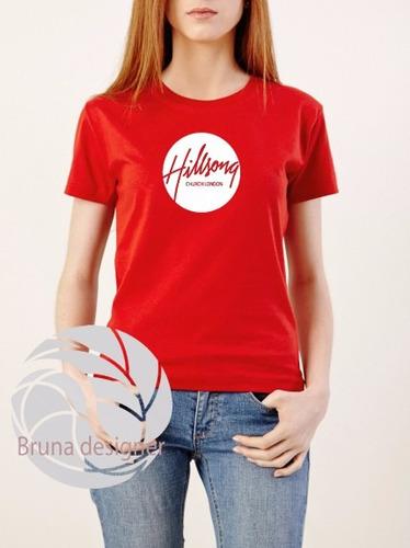 camiseta feminina hilsong united camisa rock gospel ótima