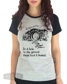 558ab27a3faea0 Camiseta Feminina Hobbit The Shire Condado Frodo Bilbo Nerd
