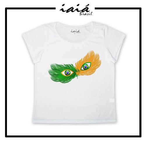 camiseta feminina infantil copa brasil mascara iaia brasil