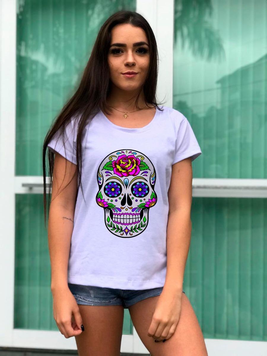 Las mezclas amerindias y europeas - Mestizas y mestizos - Página 5 Camiseta-feminina-linda-caveira-mexicana-estilosa-D_NQ_NP_822729-MLB28174023784_092018-F