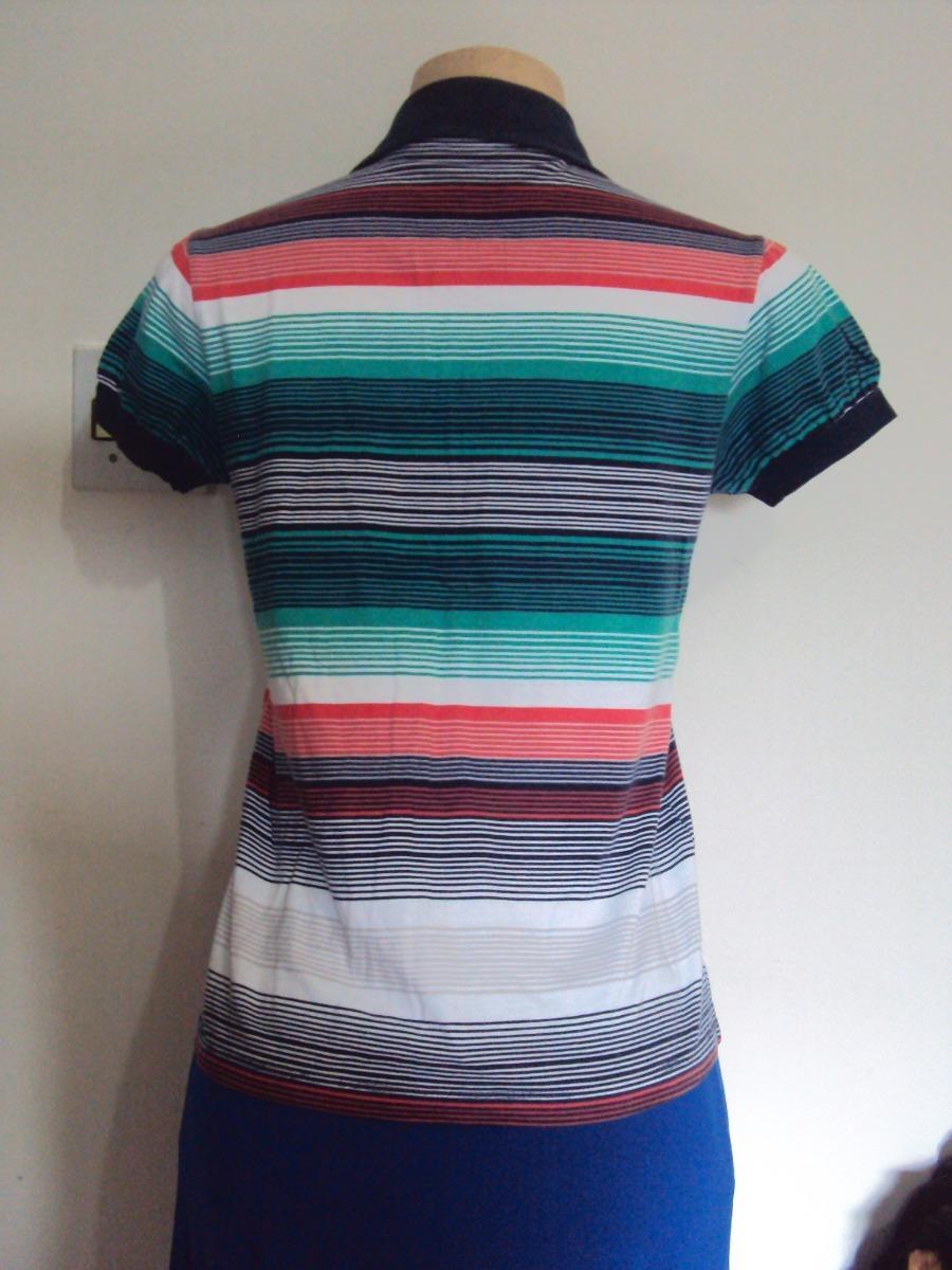 36b0039054 camiseta feminina listrada gola polo hering tamanho m. Carregando zoom.