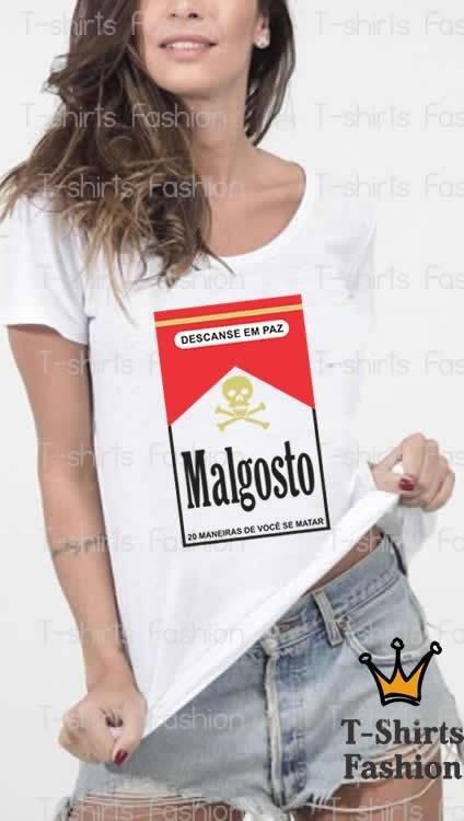 4e5b45ac4 Camiseta Feminina Malgosto Frases Engraçadas Personalizada - R  59 ...
