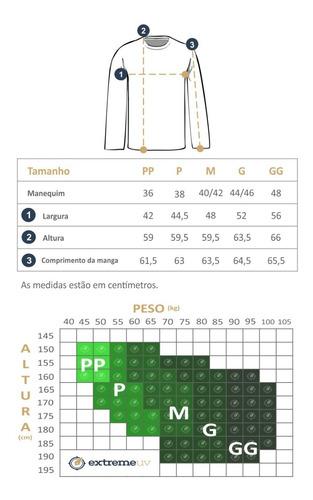 camiseta feminina manga longa repele insetos proteção solar