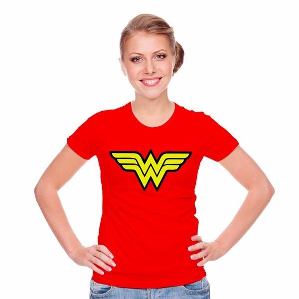 edf772a88 Camiseta Feminina Mulher Maravilha Promoção 100% Algodão - R  29