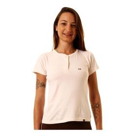 Camiseta Feminina Oitavo Ato Henley  Nude