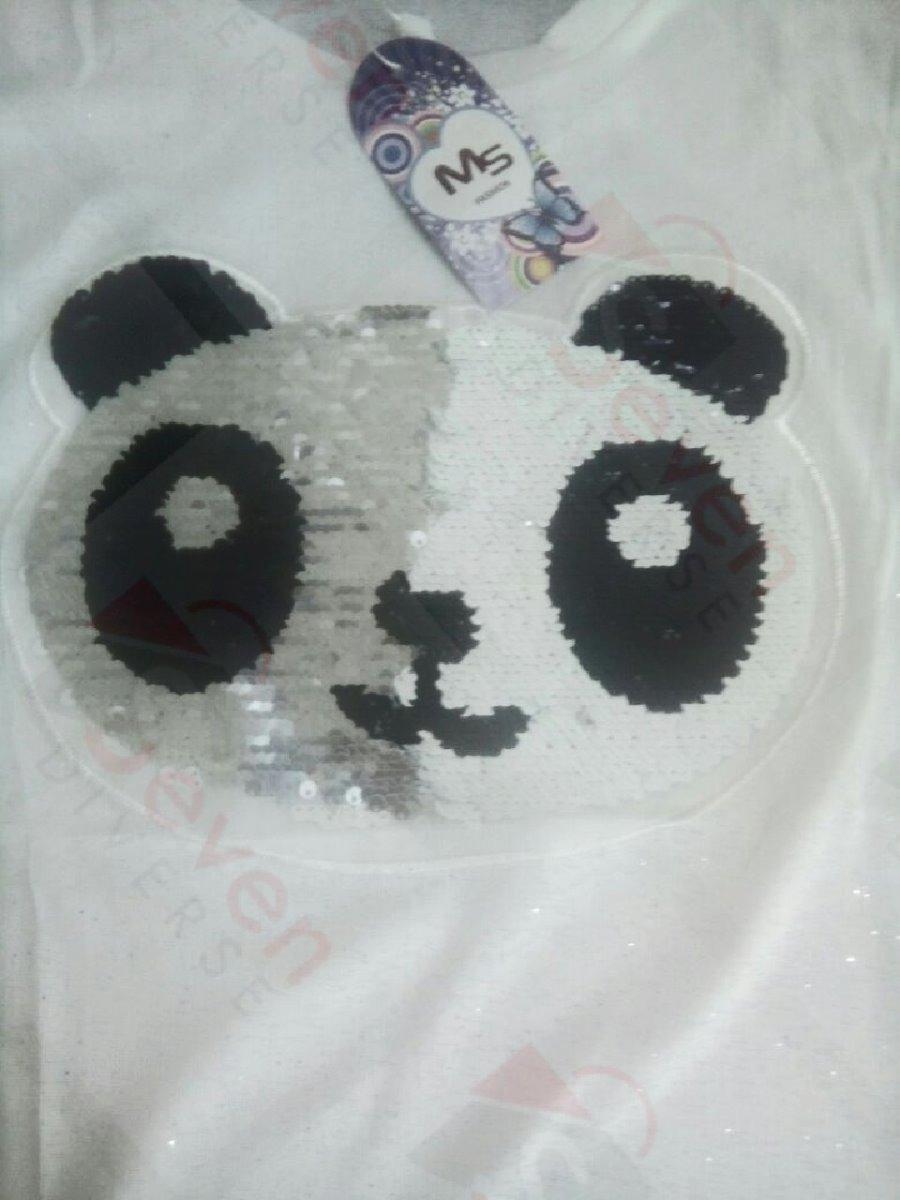 f9523bb312 Camiseta Feminina Panda De Lantejoula (promoção) Paetê - R  34