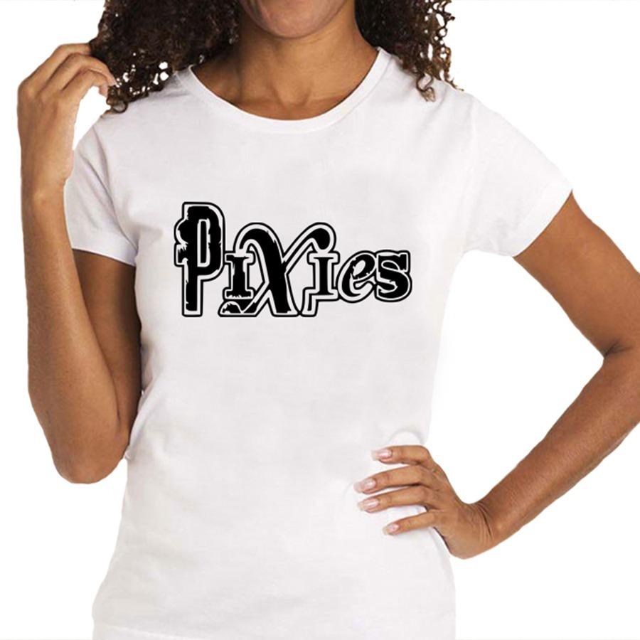 6f3f295ff Camiseta Feminina Pixies - 100% Algodão - R$ 59,88 em Mercado Livre