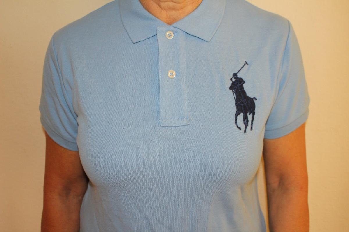 camiseta feminina polo ralph lauren big pony original. Carregando zoom. f9f140e9d63