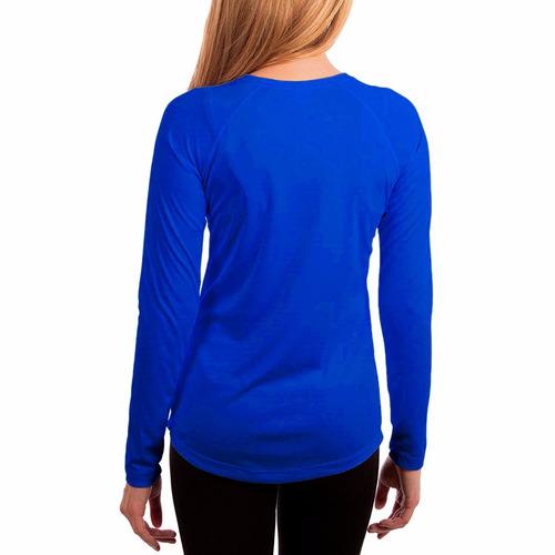 camiseta feminina proteção solar fps50 uv antibactericida