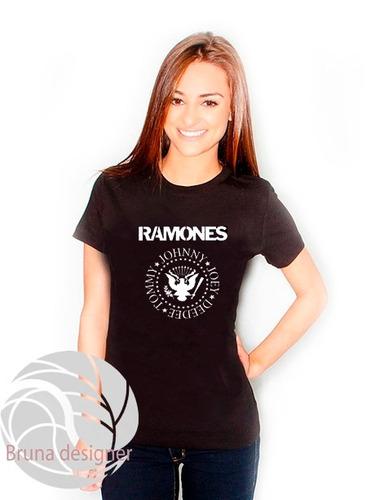 camiseta feminina ramones ótima qualidade
