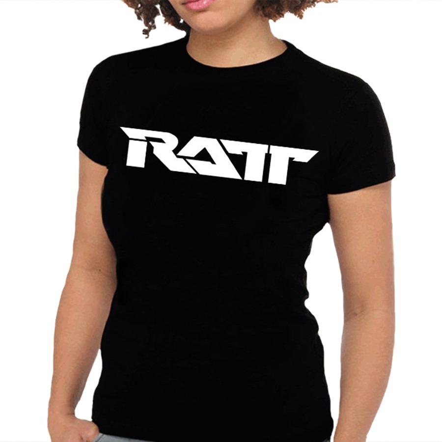 9d3d6beca Camiseta Feminina Ratt - 100% Algodão - R$ 59,88 em Mercado Livre