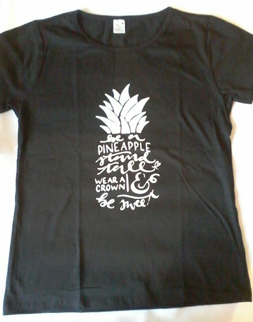 10b7e89dd camiseta feminina t shirt estampa abacaxi 100% algodão. Carregando zoom.