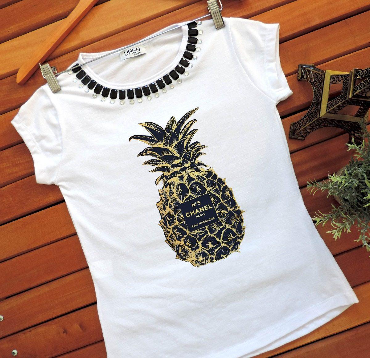 73b3d873d camiseta feminina t-shirt feminina blusa abacaxi verão 2019. Carregando  zoom.