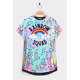Camiseta Feminina T-shirt Manga Curta Estampada