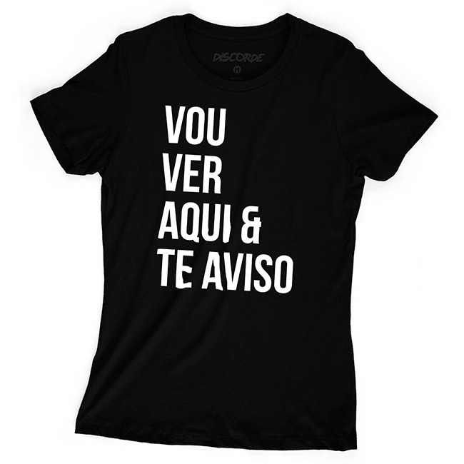 b8df48d0d3 Camiseta Feminina Vou Ver Aqui E Te Aviso Moda Tumblr Frases - R$ 44 ...