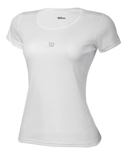 camiseta feminina wilson - core ss f - tênis