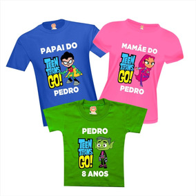f40ce248c8 Camiseta Festa Jovens Titãs Em Ação - Teen Titans Go